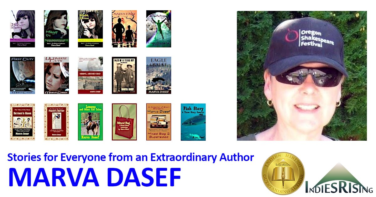 books and novels by outstanding independent self-published author Marva Dasef