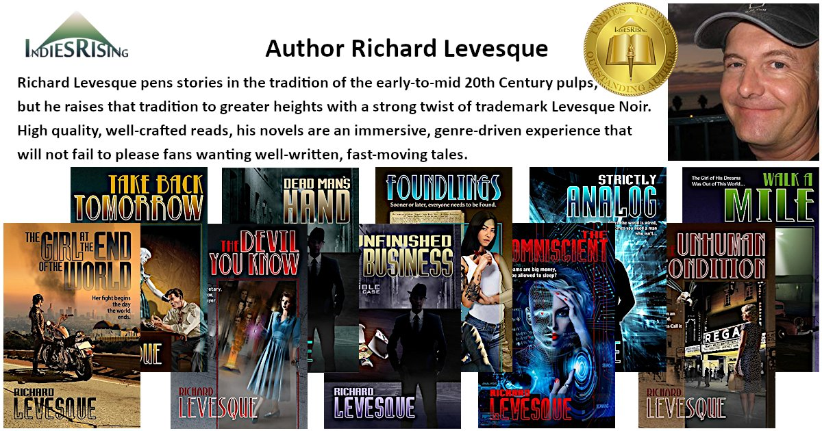 books and novels by outstanding independent self-published author Richard Levesque